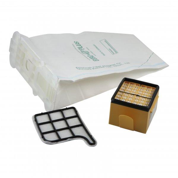 Sparset geeignet für Vorwerk Kobold 135 136 - 6 Premium Staubsaugerbeutel, 1 Mikro- + 1 Motorfilter