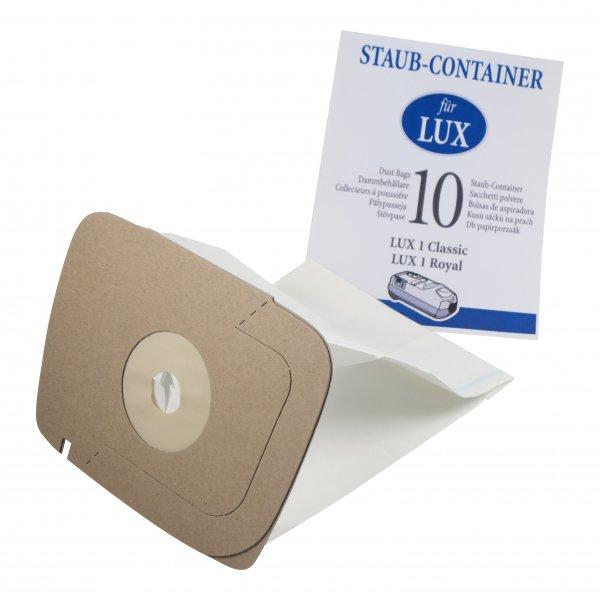 10 Staubsaugerbeutel geeignet für Electrolux Lux 1 - D 820
