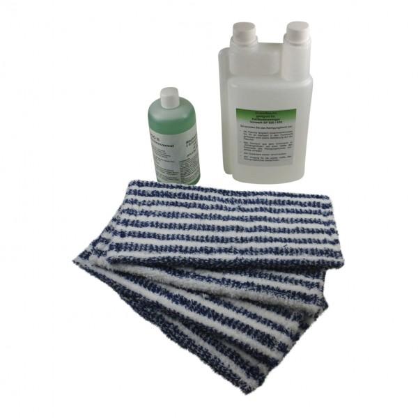Dosierflasche + Wischpflege + Tücher geeignet für Vorwerk SP 520 530