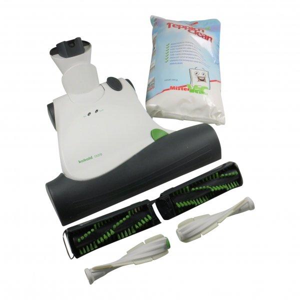 Vorwerk Kobold EB 370 Elektrobürste + Frischerkit + Pulver + Matratzenbürsten geeignet für Vorwerk