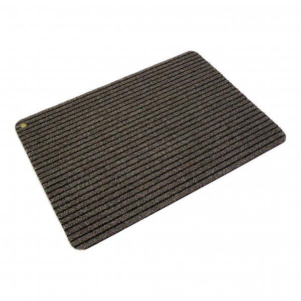 Hara Ha-Ra Fußmatte Soft premium (90x200 cm) schwarz/braun
